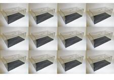 Lot 12 Boites Vitrine/Plexi avec socle pour Miniatures 1/43 Hauteur 6 cm Neuf!