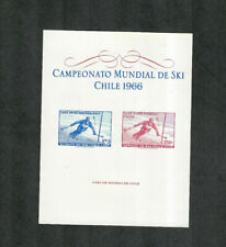 Chile As c266-7 See Note M/NH/VF, Souv. Sheet, Cv. $20