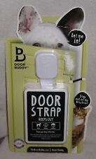 Door Buddy® Door Strap & Latch | Dog Proof The Cat's Litter Box without pet gate