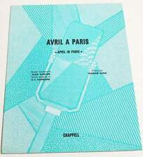 Partition vintage sheet music JEAN SABLON : Avril à Paris * 30's EX