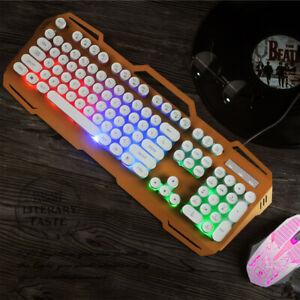 Gaming Keyboard &Mouse Backlit PC Backlight Wired LED Rainbow Illuminated