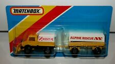 Matchbox Superfast TP-112 Unimog & Mercedes Trailer ENGLAND BASE MIB SEALED RARE