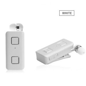 Wireless Bluetooth Headset Stereo Retractable Earpiece for iPhone Samsung S10 LG
