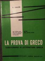 La prova di greco: questionario di letteratura greca - S. Cecchi