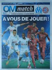 Programm UEFA CL 2011/12 Olympique Marseille - Bayern München