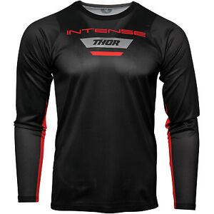 Thor Racing 2021 Intense MTB Long-Sleeve Jersey Black/Gray All Sizes