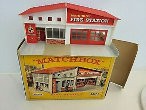 1960s LESNEY MATCHBOX FIRE STATION #MF-1  WITH BOX , used