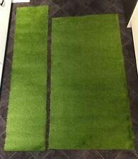 Artificial Grass Off Cut Remnant 2 Of 185cm X 96cm And 210cm X 49cm  App 25mm Hi