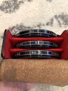 Vivitar Close-Up Lens Coated No.1, 2, 3   52mm Macro Filter Set w/ Leather Case