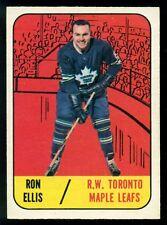1967-68 TOPPS HOCKEY #14 RON ELLIS NM TORONTO MAPLE LEAFS CARD