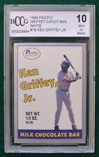 Ken Griffey Jr. rookie card graded BCCG 10 Mint+  1989 Pacific White HOF RC