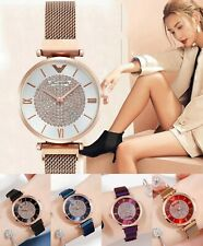Rose GOLD Purple Designer Style Ladies Watches Women Crystals Bling Watch