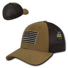 Coyote USA US American Flag Tactical Operator Mesh Flex Baseball Fit Hat Cap
