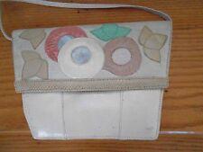 VTG 80's KOOS VAN DEN AKKER Ivory/Multi-Color Shoulder/Clutch/Crossbody Handbag