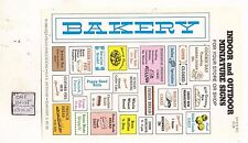 Bakery Shop / Store Signs -  S108 - 1/12 Scale dollhouse miniature -