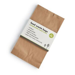 Compostable Food Waste Paper Bags - 25 Bags - 10 Litres - 100% Biodegradable