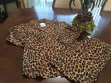 NEW RALPH LAUREN LEOPARD ANIMAL PRINT PYJAMAS LOUNGE SUIT SIZES S, M, OR XL