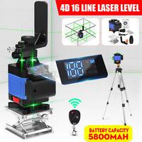 4D 16 Line Green Light Laser Level Digital Self Leveling 360° Rotary Measure