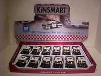 12 pack 1957 Chevy Bel Air Coupe Die-cast Car 1:40 Kinsmart 5 inch Police
