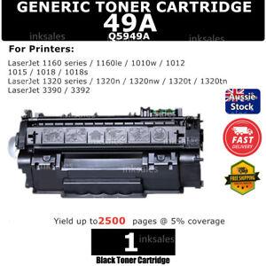 1x Q5949A 49A Toner 3000 Page for HP LaserJet 3390 1160 1320 3392 1320tn 1160Le