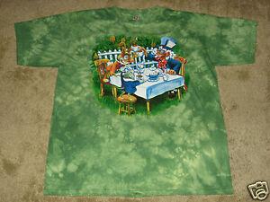 Alice in Wonderland Tea Party S, M, L, XL, 2XL Tie Dye T-Shirt