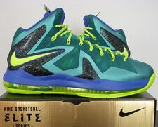 "NIKE LEBRON X PS ELITE ""SUPERHERO PACK"" SP TURQ-VOLT-VIOLET SZ 13 [579827-300]"