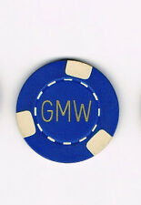 GMW - Blue & White - $5 Casino Chip