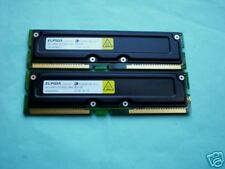 ELPIDA 512MB PC800-45 ECC RAMBUS RIMM RDRAM (2 x 256MB)