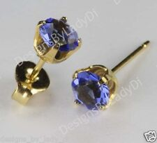 Studex Sensitive Gold 5mm Blue Sapphire September Birthstone Stud Earrings