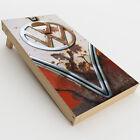 Skin Decal for Cornhole Game Board 2xpcs. / VW Bus Rust, Split Window van