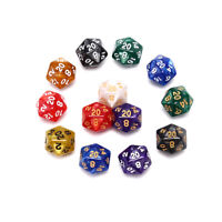 1PC Durable Pearlized D20 Dice Acrylic 20 Sided Dice for Board Game fz