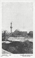POSTCARD IRAQ - BAGHDAD - A MOSQUE AND MINARET FROM THE ROOF TOPS