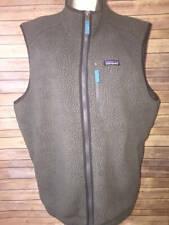 Patagonia Fleece Gray Zip Up Vest Mens XXL