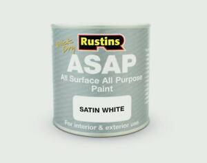 Rustins All Surface All Purpose Paint For Wood Metal UPVC Tiles 5 Colours 250ml