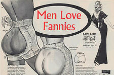 VINTAGE ADVERT REPRODUCTION FUNNY MEN LOVE FANNIES  A4 POSTER PRINT