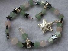 Handmade Rose Quartz Silver Plated Beaded Costume Bracelets