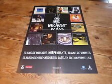 MANU CHAO - CHRISTINE AND THE QUEEN - SELA SUE !!!RARE PROMO PRESS/KIT POSTER