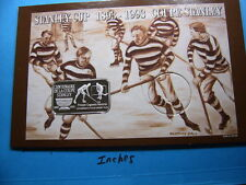 STANLEY CUP HOCKEY CENTENNIAL 1893-1993 NHL VINTAGE 999 SILVER BAR ONLY 100 MADE