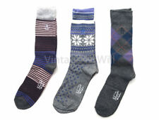 Original Penguin Men 7-12 Stripe Snowflake Check Crew Dress Sock Gift Box 3 Pack