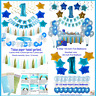 1St Birthday Boy Decorations  Complete One Year Party Kit Decoration First Giant