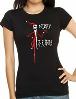 Womens fitted NIGHTMARE BEFORE CHRISTMAS Sandy Claws Christmas T-Shirt