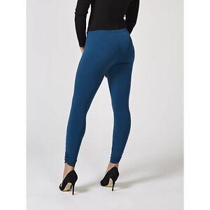 Kim & Co Brazil Jersey Full Length Legging with Ruching French Navy XL