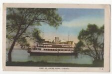 Ferry At Centre Island Toronto Canada 1954 Postcard US112