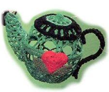 Mary Engelbreit Comfort & Joy Crocheted Teapot Hanging Ornaments-112276-B