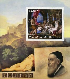 Mali 2018 MNH Titian Italian Painter 1v S/S Nudes Nude Art Paintings Stamps