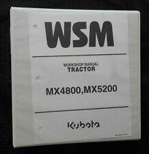 GENUINE KUBOTA MX4800 MX5200 TRACTOR SERVICE REPAIR MANUAL TABBED INDEX + BINDER