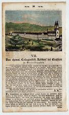 Eichstätt - Rebdorf - Bayern - Franken - kolorierter Holzschnitt 1860