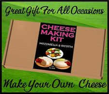 Cheese Making KIT Mozzarella & Ricotta Great Gift Present Cheese Starter Kit