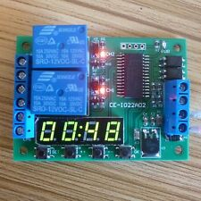 12V Multi-function Digital Delay Time Cycle Timer Timing Relay Switch Zeitrelais