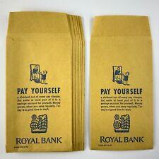 1962 RBC Royal Bank of Canada Envelope Wages Form 6632 Envelopes 771A
